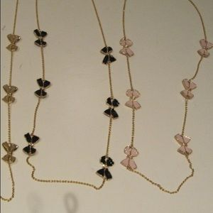 Jcrew pink bow necklace